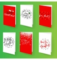 Set of christmas brochures templates vector image vector image