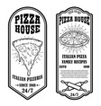 set pizza house flyers design elements for vector image