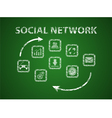 Social network on board vector image vector image