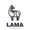 stylized drawing of llama vector image vector image