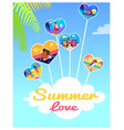 summer love photos of couples in heart shape frame vector image vector image