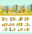 summer playground concept vector image vector image