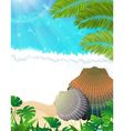Sunny tropical beach vector image vector image