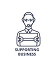supporting business line icon concept supporting vector image vector image