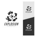 swoosh comic smoke logo energy explosion effect vector image