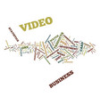 ten different ways to use video for your business vector image vector image