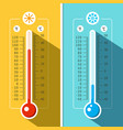 thermometer icons temperature measurement vector image vector image