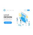 ui ux design isometric concept vector image vector image