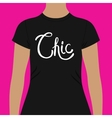 Simple Black Shirt Template with Chic Text vector image