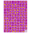 A Set of Yellow and Purple Sport Icons vector image vector image