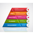 abstract 3d pyramid options infographics template