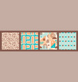abstract geometric collection seamless patterns vector image vector image