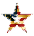 american star sign vector image vector image