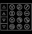 astlogical table elements zodiac vector image