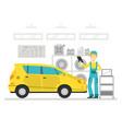 auto repair service mechanic character vector image
