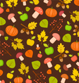 autumn seamless texture with pumpkins leaves vector image vector image