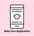 baby care application vector image vector image
