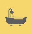 Bathtub Icon vector image vector image