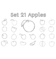 Big set of apples vector image vector image