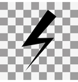 bolt icon on a transparent vector image