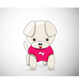 Cartoon dog character vector image