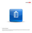 check list ok icon - 3d blue button vector image