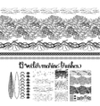 Collection of ocean brushes vector image vector image