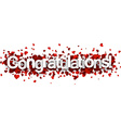 Congratulations 3d sign vector image vector image