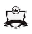crown masculine emblem icon vector image vector image