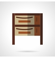 Cupboard flat color design icon vector image