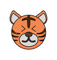 cute tiger drawing animal vector image vector image