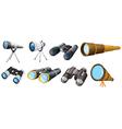 Different telescope designs vector image