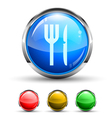 Dining Button vector image vector image