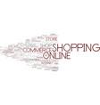 e-shopping word cloud concept vector image vector image