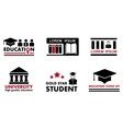 education concept icons vector image vector image