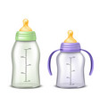 empty baby bottles isolated on background vector image vector image