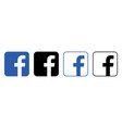 facebook logo with shadow on a transparent vector image