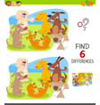 find differences with dog characters vector image vector image