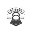 fitness logo design vector image