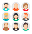 Flat Avatar Character Icons Set 2 vector image