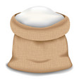 flour bag icon realistic style vector image vector image