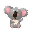 funny greeting koala isolated on white background vector image