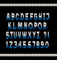 glitch font letters and numbers with stylized vector image