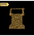 Gold glitter icon of terminal screen vector image