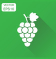 grape fruit with leaf icon business concept bunch vector image
