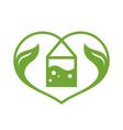green tea love sign vector image