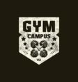 gym club sport emblem with retro texture vector image vector image
