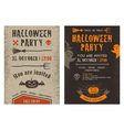 Halloween flyer vector image