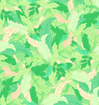 hand drawn seamless pattern with green coloured vector image vector image