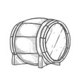 hand drawn wooden barrel vector image vector image